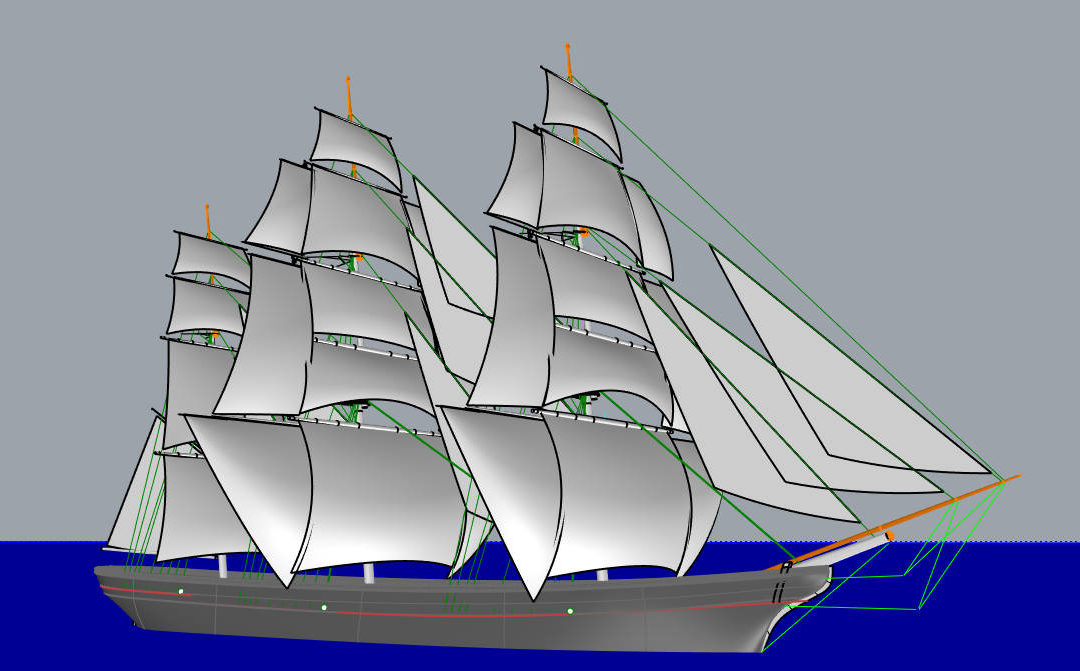 Designing a fleet of Sailing Cargo Ships